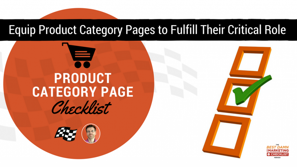 ecommerce product category page checklist